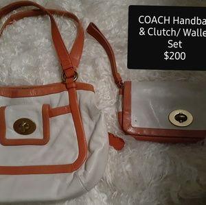 AUTHENTIC Coach Shoulder bag and Clutch